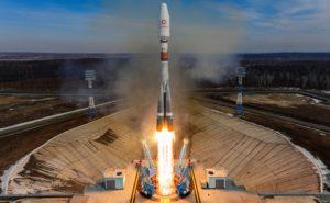 Rocket launch of OneWeb Satellites.