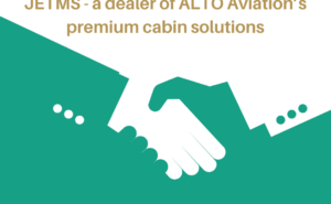 Words 'Premium Cabin Solutions in golf over top of a white and green hand shake.