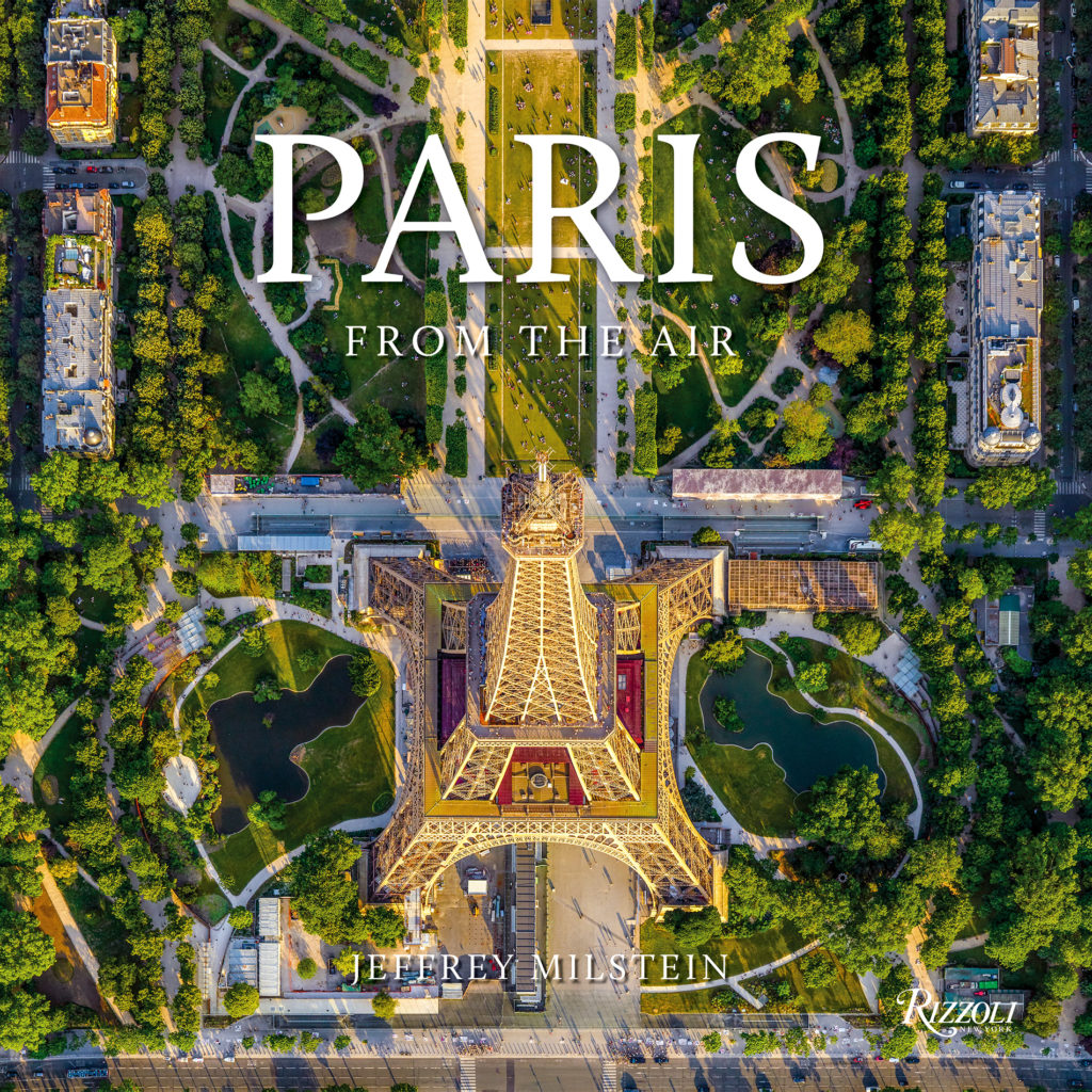 Cover of the book Paris from the air showing an aerial view of the Eiffel Tower