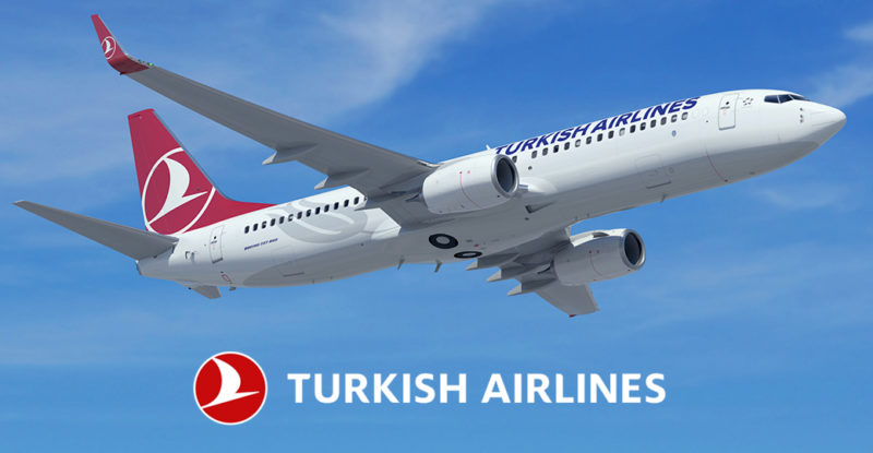 Turkish airlines aircraft inflight.