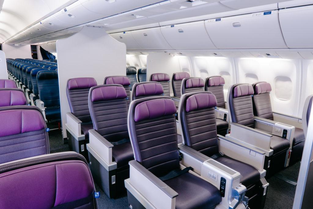 United's premium economy product aboard the 767