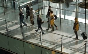 Passengers arriving into Terminal 5 of Heathrow