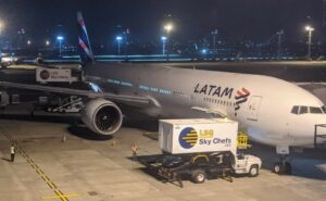 LSG loading onto LATAM aircraft at the gate.