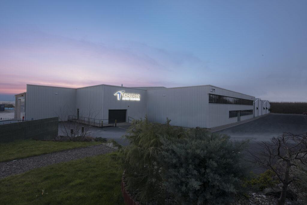 ACS' locations building at sunrise.