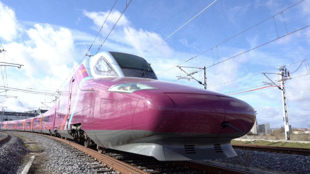 Avlo on a track showing its burgundy colour exterior