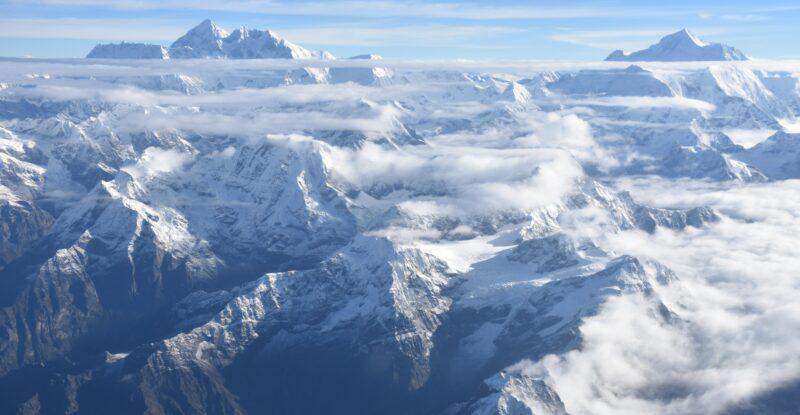 Caeli Nova Himalayas aerial view.