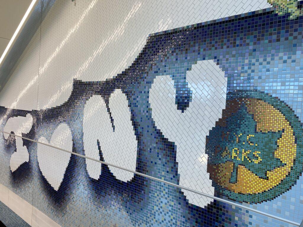 I heart NY subway tile mosaic.