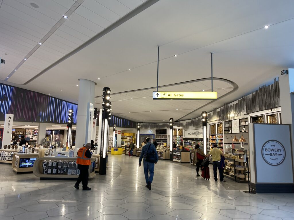 Duty free shops in LaGuardia's new terminal.