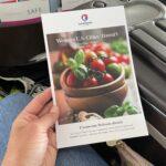 Hawaiian Airlines' first class menu card cover.