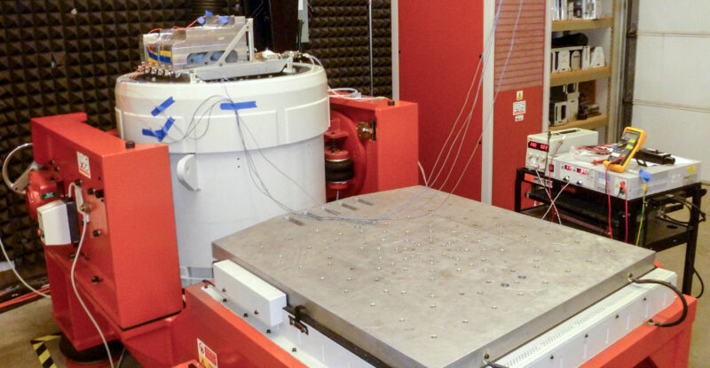 CIT Vibration and Mechanical Shock Testing machine.