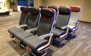 Boeing AIC displaying TSI's Epianka seats on the show floor