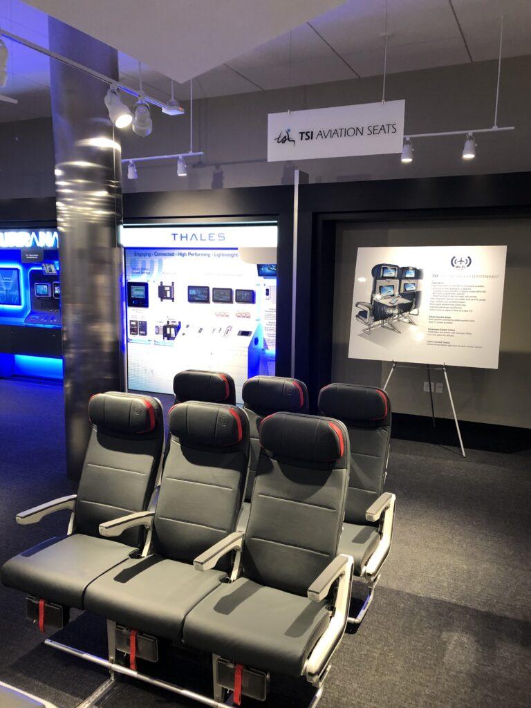 Boeing Renton Studio with TSI Epianka seats displayed for the Boeing 737