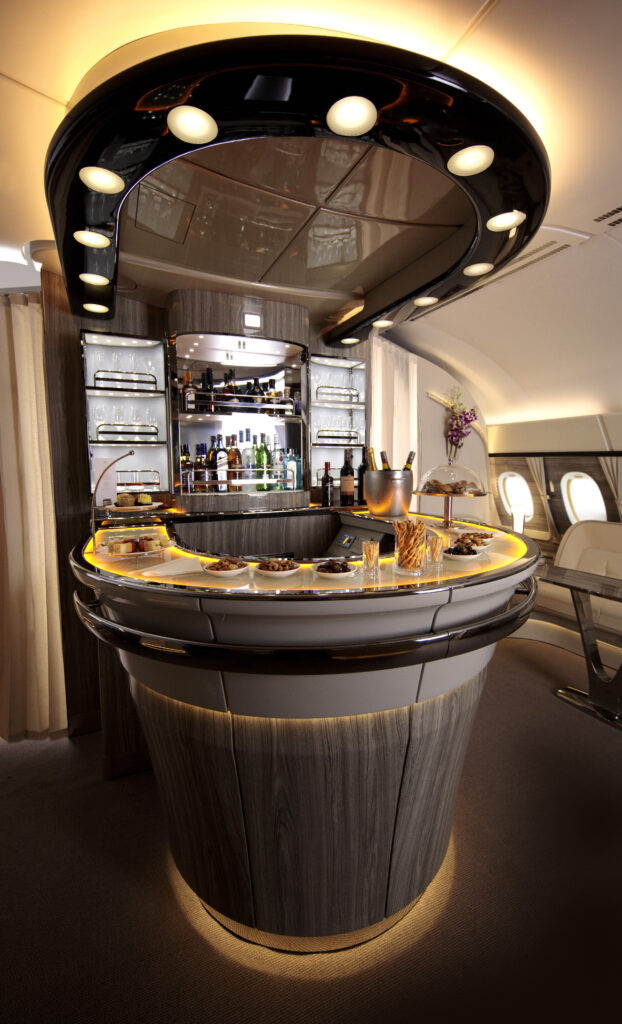 Emirates' A380 onboard lounge refresh