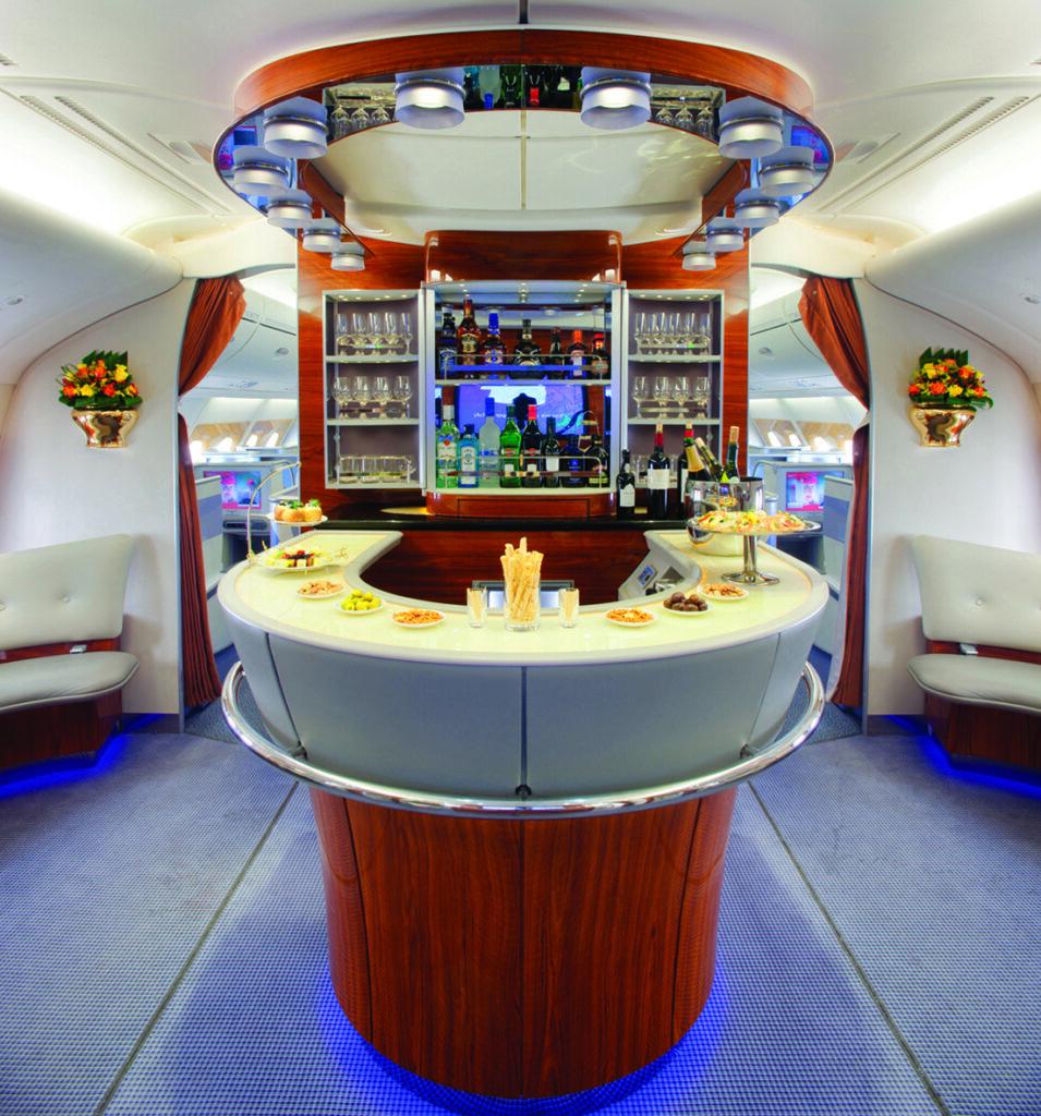 Original Emirates A380 Business Bar