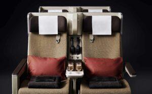 SWISS Premium Economy Class seats close up