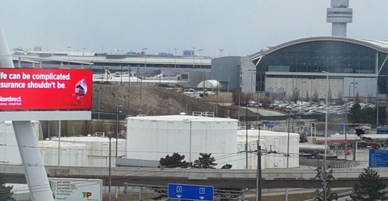 Toronto Pearson International airport view.