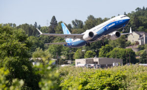737 MAX 10 taking off