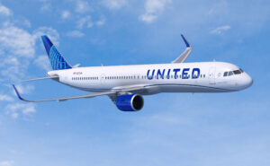 United Airlines A321neo in-flight
