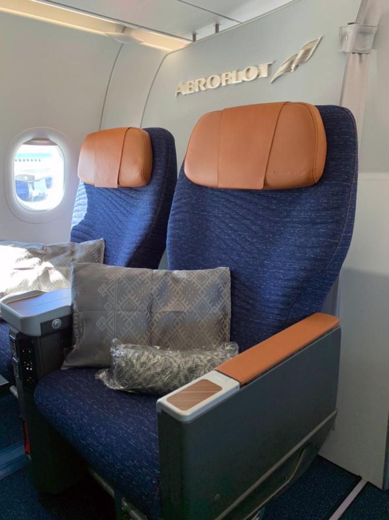 Aeroflot CL4710 business class seat from Recaro