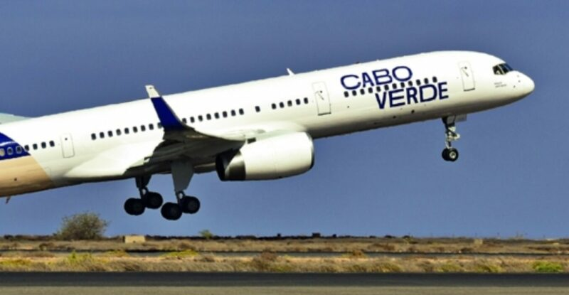 Cabo Verde aircraft taking off.