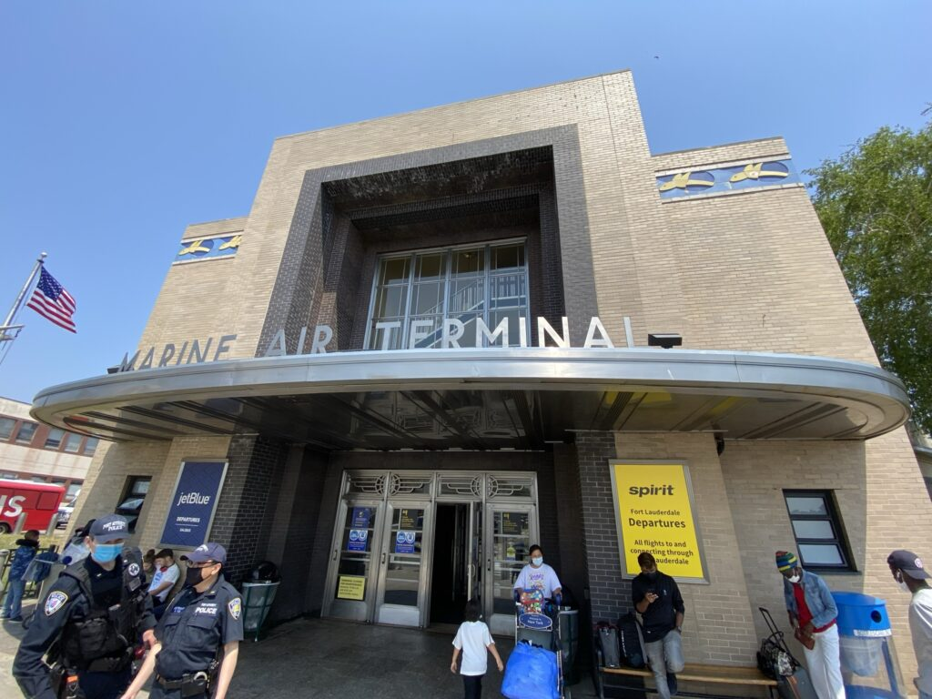 Marine Air Terminal (MAT) at LaGuardia. Entry way.