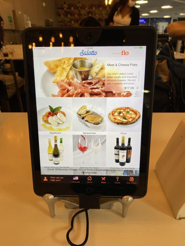 OTG Menu displayed on an iPad.