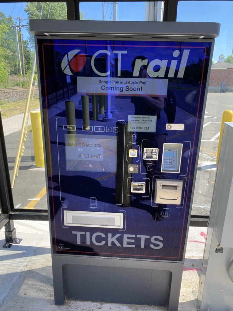 CTrail ticket kiosk at Hartford rail station.
