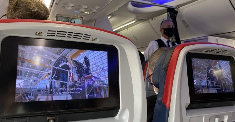 Panasonic seatback IFE on board the Delta 737-900ER