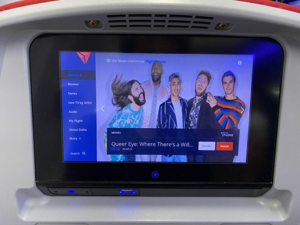 Seatback IFE on the Delta 757-200