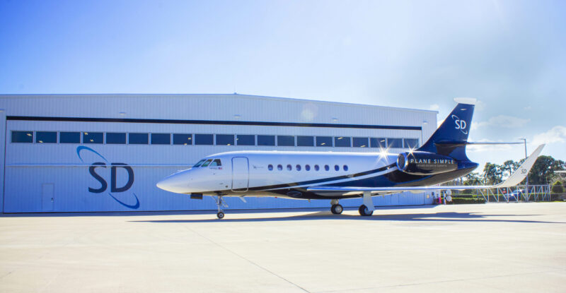 The SD Falcon 2000LX ready for Plane Simple antenna installation.