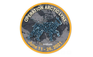 Operation Arctic Lynx Logo with the dates June 11-26 2021. It is a circular logo with a lynx depicted via stars like a constellation.