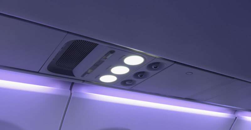The new Collins Aerospace PSUs for Airspace; the three PSU lights are on in this photo