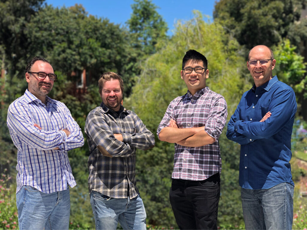 Four of Airflow's founding members, from the left: Peter Kalogiannis, Geoff DuBridge, Don Fung and Marc Ausman