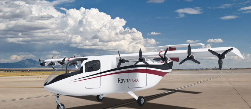 The eSTOL aircraft as it may appear in Ravn Alaska livery