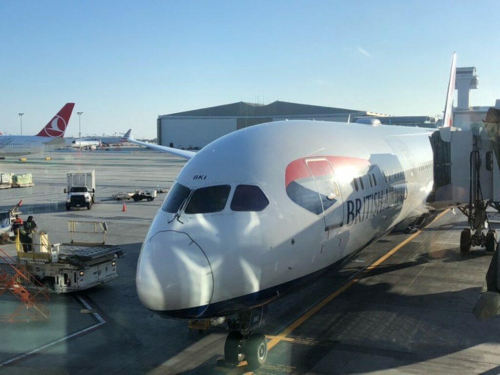 British Airways Aircraft at the gate