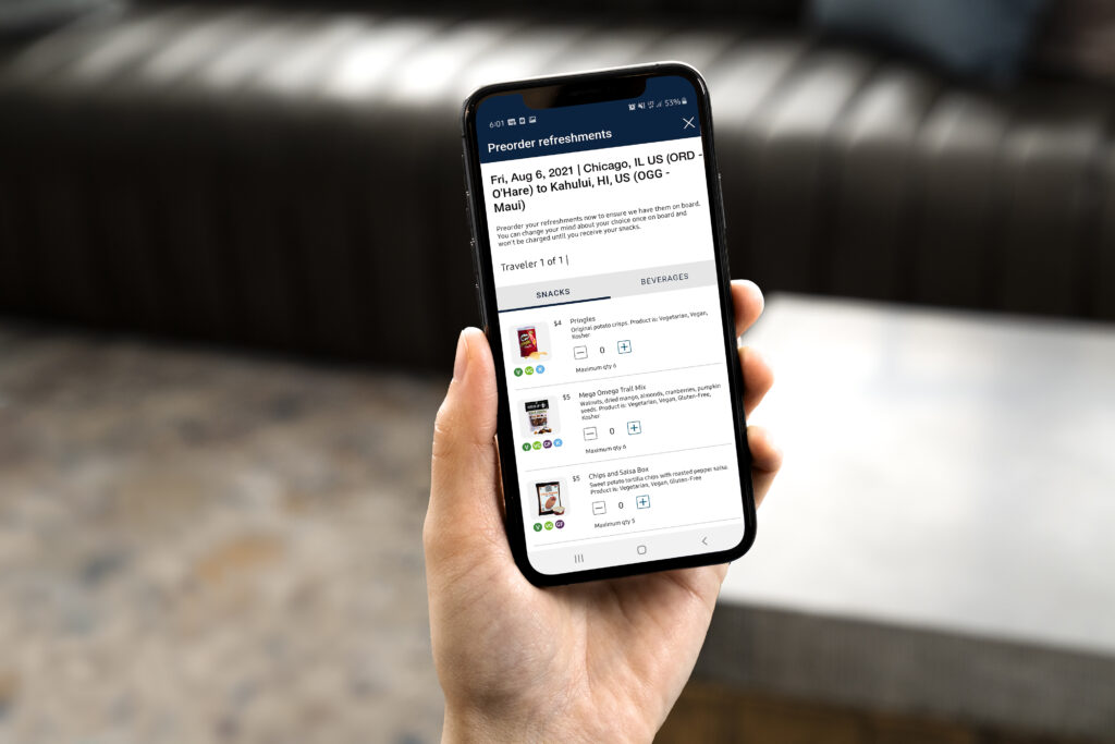 Phone screen showing Pre-Order page for United.