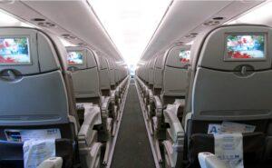 Azul interior with seatback IFE. But impressive burndown rate for IFC.