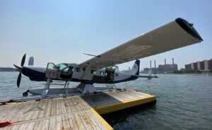 Tailwind seaplane at the dock prepping for flight.