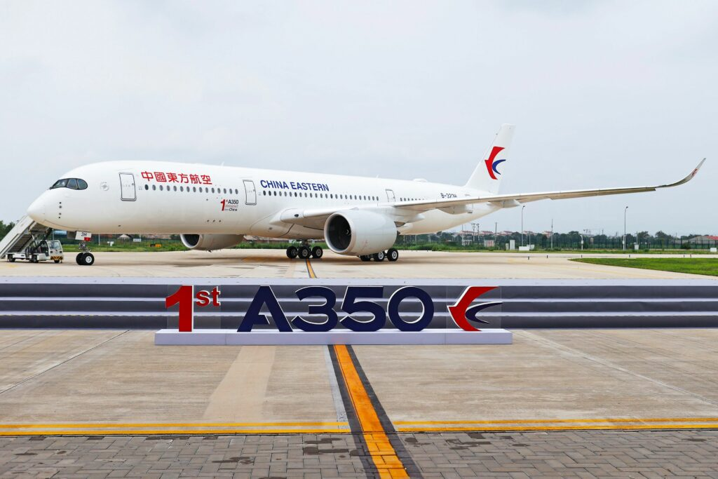 The First A350 Delivered From China to China Eastern Airlines