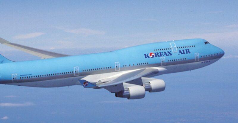 Korean Air 747 in-flight