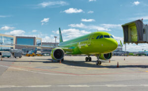S7 Airlines A320neo at airport.