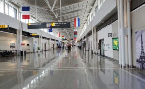 International Terminal 1 at Pearson Airport on Toronto Ontario.