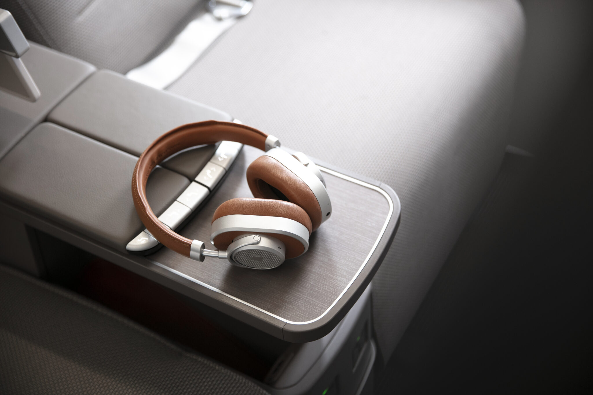 Cathay headphones on the A321NEO