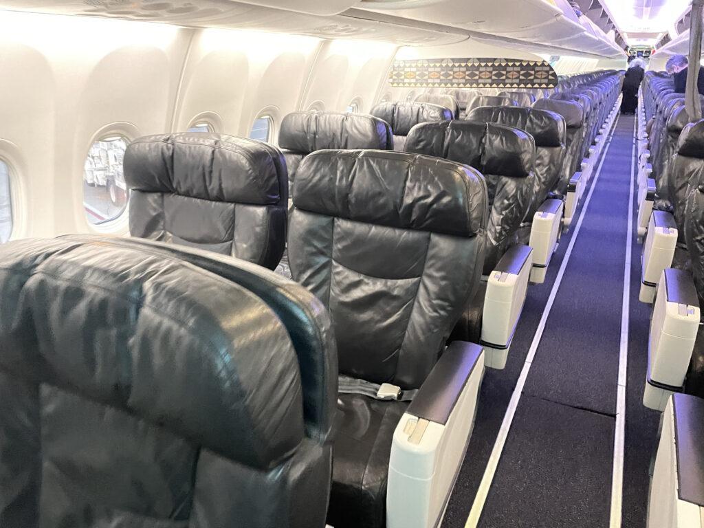 Alaska Airlines Boeing 737-900 cabin interior.