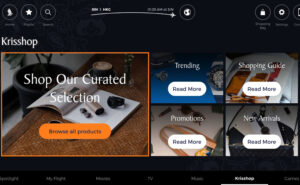 Landing page for KrisShop on Pansonics Marketplace platform
