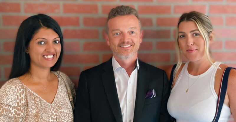 Pictured left to right: Ayesha Virji, Eric Silverstein and Lindsay Arellano