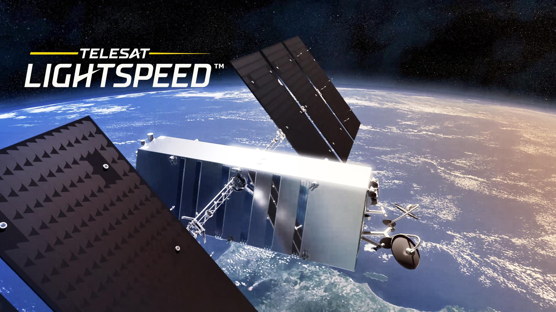 Rendering of Telesat Lightspeed Satellite in orbit
