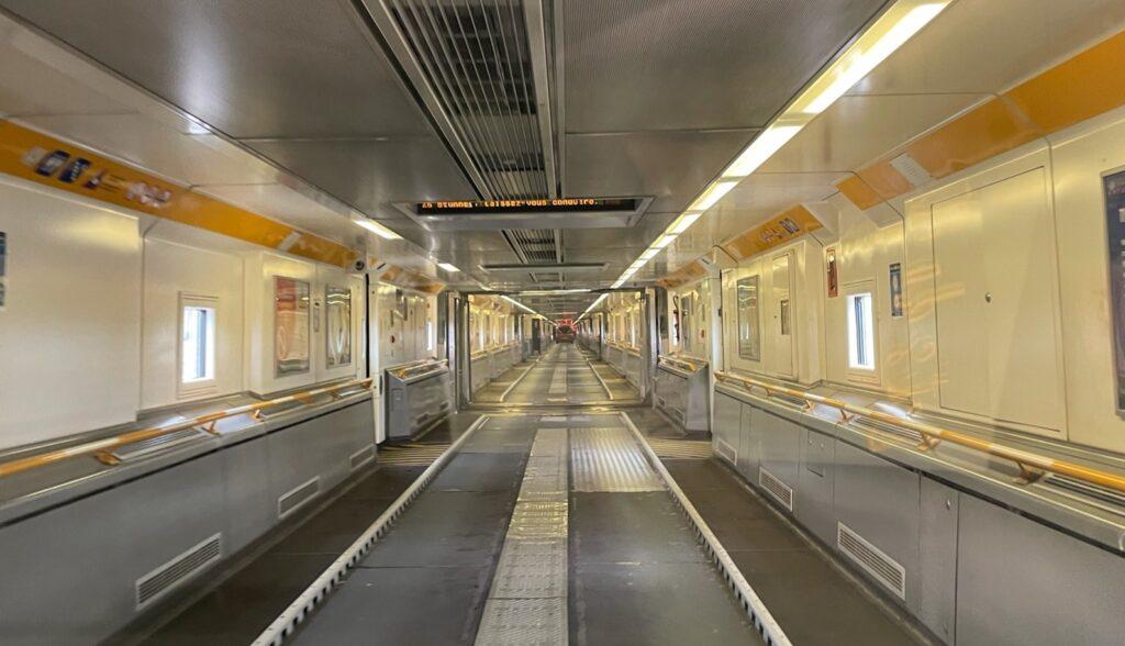 Inside an empty Eurotunnel