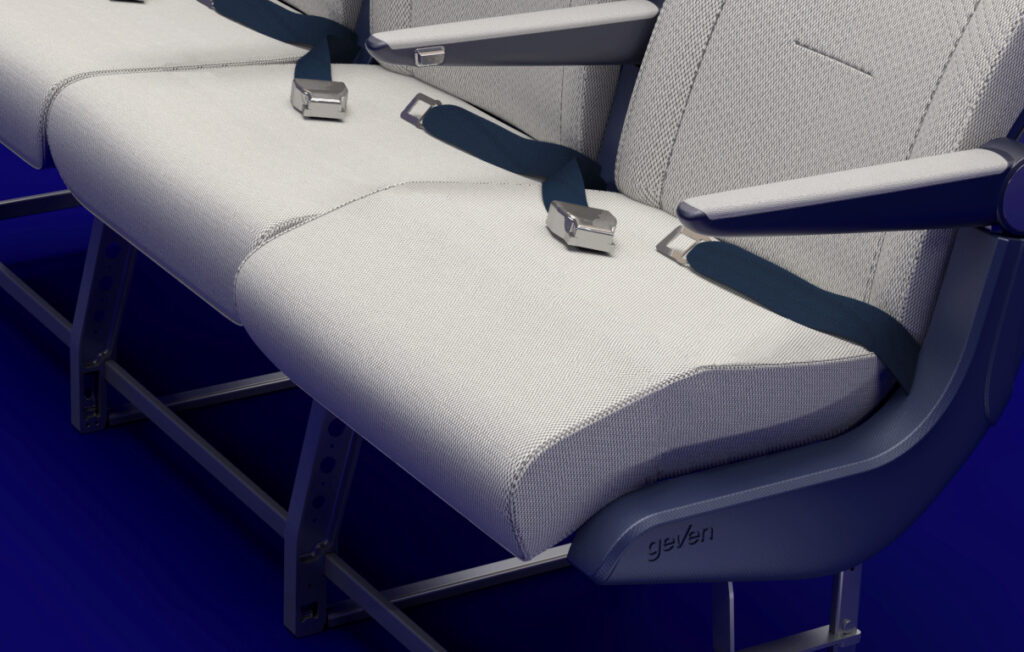 Wave is a special feature that is embedded within the cushion seat pan, shown here