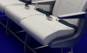 Zooming into a rendering of the Elemento seat, the Wave difference is clear as there is a wave to the seat pan